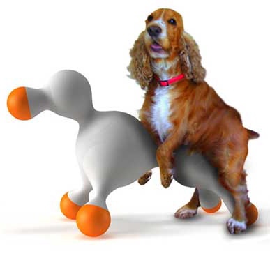 A frottage toy for dogs.