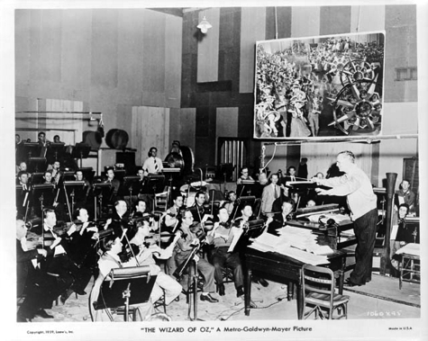 The Wizard of Oz, music recording session, 1939