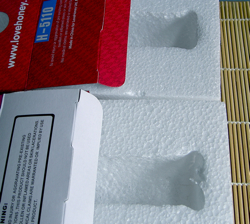 Max Passion and LoveHoney - identical polystyrene box inserts - front