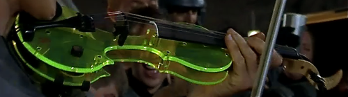 Starship Troopers - Tucker Barrett Acrylic Luma EV-5 Electric 5 String Violin - Close Up 1