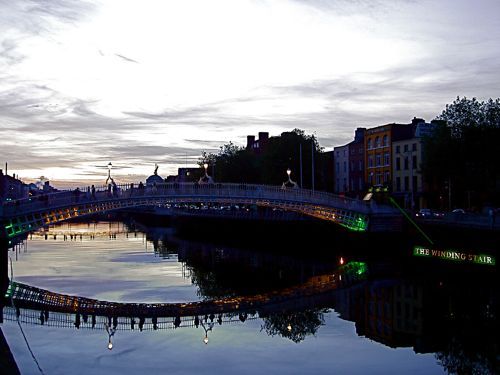 The Ha'penny Bridge And The Winding Stair