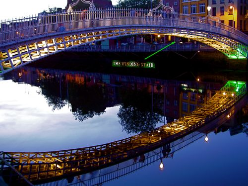 The Ha'penny Bridge And The Winding Stair - Gratuitous Bridge Porn