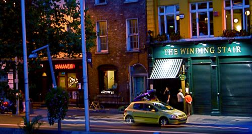The Winding Stair And Yamamori Sushi - View Of Ormond Quay