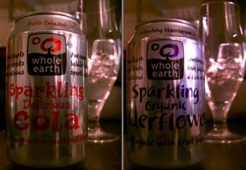 Whole Earth Drinks In A Can - Nutty Cola Nut And Refreshing Elderflower
