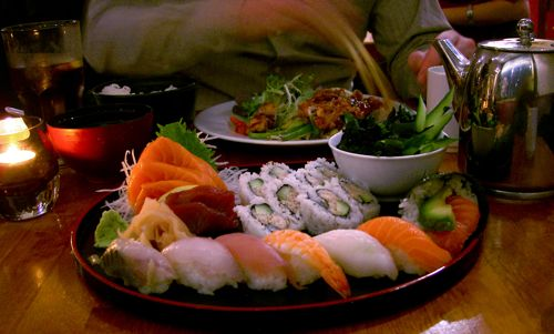 Yamamori Sushi - Jo Moriwase, Tatsuta Age, Miso Soup, Sticky Rice And Green Tea.