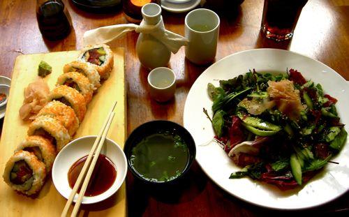 Yamamori Sushi - Futomaki, Sunomono, Miso Soup, And A Small Sake