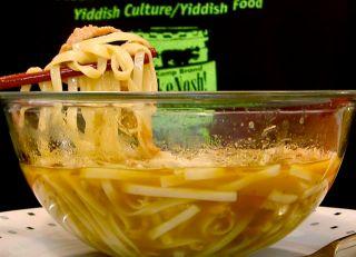Noodle eatage and slurpfest.