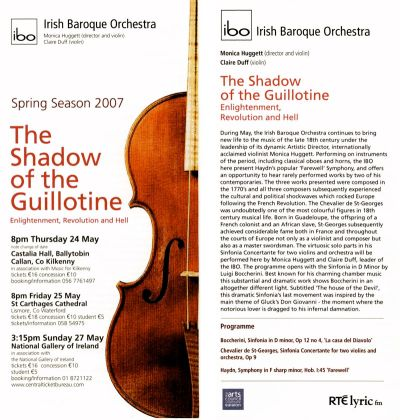 IBO Concert Leaflet - 2007 - The Shadow of the Guillotine