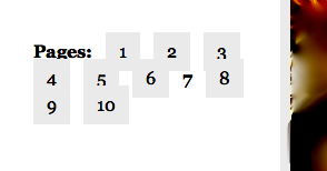 Pagination funniness when images and page links try to elbow in on each other's action.