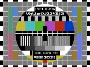 Bloggishly customised image of a TV test pattern card